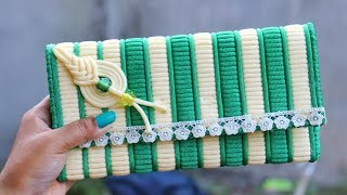 Download How to make Macrame ladies hand bag Or Purse Using Plastic Canvas   DIY Craft Unique Idea Video