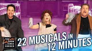 Download 22 Musicals In 12 Minutes w/ Lin Manuel Miranda & Emily Blunt Video