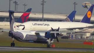 Download Tokyo Narita Airport Cargo traffic from Spot ″Sakura no yama Park″ 成田空港、桜の山公園からの特別貨物機 Video