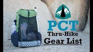 Download PCT Thru-Hike Gear List (FINAL) Video