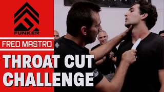 Download Fred Mastro | Mastro Defence System | Funker Tactical Throat Cut Challenge! Video
