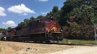 Download Arkansas & Missouri Monett Turn & BNSF In Monett, MO!!!!!! 600 Sub Special P.1 8/10/16 Video