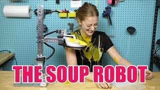 Download I made a robot that serves me soup Video