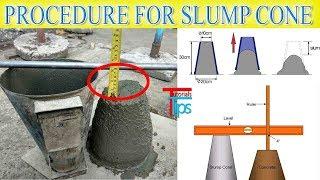 Download Concrete Work ability test at side | Slump cone test procedure Video