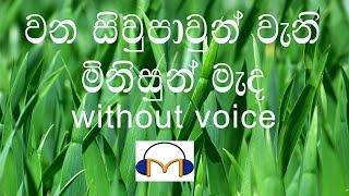 Download Wana Siwpawun Karaoke (without voice) වන සිවුපාවුන් වැනි මිනිසුන් මැද Video