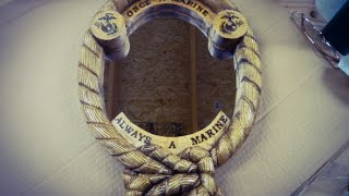 Download Wood Carving a Mirror Frame for a Marine Video