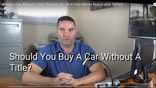Download Should You Buy A Car Without A Title? Video