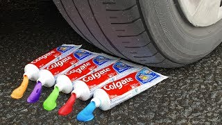 Download EXPERIMENT: CAR VS RAINBOW TOOTHPASTE Video
