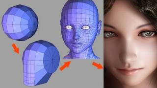 Download Human Head Modeling [HD] : 牛山雅博 Video