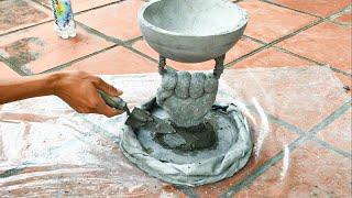 Download DIY - Creative Flower Pot Ideas // Cement Flower Pots Made From Ball And // Glove Garden Design Video