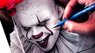 Download Let's Draw PENNYWISE - IT - FAN ART FRIDAY Video