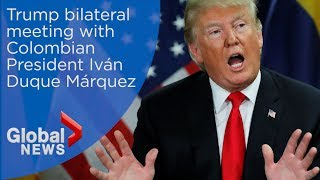 Download Trump meets with Colombia's president Iván Duque Video