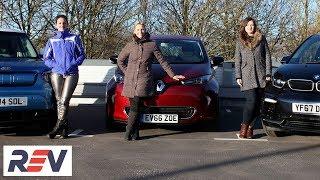 Download The REV Test: Electric cars. BMW i3s vs Kia Soul EV vs Renault Zoe Video