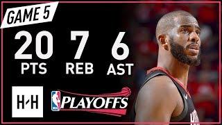 Download Chris Paul Full Game 5 Highlights Warriors vs Rockets 2018 NBA Playoffs WCF - 20 Pts, 7 Reb, 6 Ast! Video