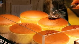 Download Japanese Street Food - JIGGLY CHEESECAKE Uncle Rikuro's Cheese Cake Osaka Japan Video