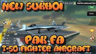 Download GUNSHIP BATTLE: [New Update] - Sukhoi PAK FA T-50 Fighter Aircraft Video