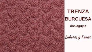 Download Como tejer el punto trenza burguesa a dos agujas- Labores y Punto Video