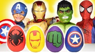 Download Avengers Play-Doh Surprise Eggs Costumes Disney Review Kids Toys Iron Man Spiderman Hulk halloween Video