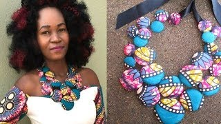 Download DIY Ankara-Cover Button Necklace (Part 2)-African print Video
