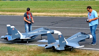 Download GREAT RC JET MODEL SHOW WITH 2X SUKHOI SU-30 MK ELSTER JET TEAM FLIGHT TO MUSIC Video