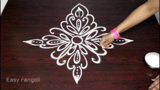 Download creative and easy freehand rangoli designs || simple kolam designs || freehand muggulu designs Video