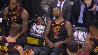 Download Unseen & Uncut Footage of LeBron & JR Smith after Smith's mistake in GM1 Video
