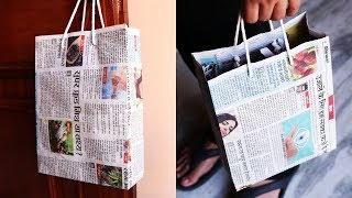 Download How to Make a Paper Bag with Newspaper – Paper Bag Making Tutorial (Very Easy) Video