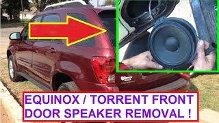 Download Front Door Speaker Removal and Replacement Chevrolet Equinox Pontiac Torrent 2005 2009 Video