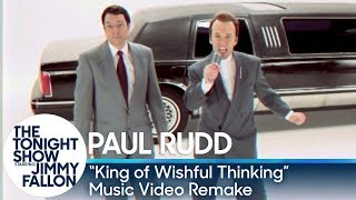 Download Jimmy Fallon and Paul Rudd Recreate ″King of Wishful Thinking″ Music Video Video