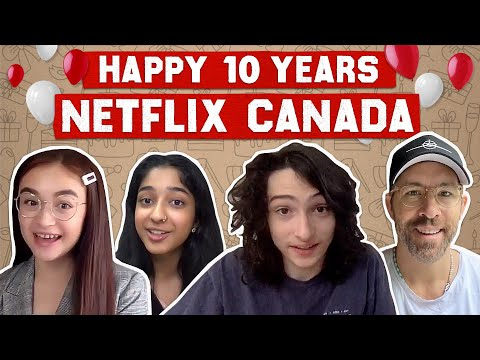 Finn Wolfhard,  Ryan Reynolds, and More Celebrate 10 Years of Netflix Canada