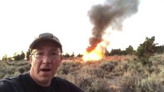 Download Jeep Wrangler Catches Fire & Burns - Overland Car Camping Trip Ends in Disaster Video