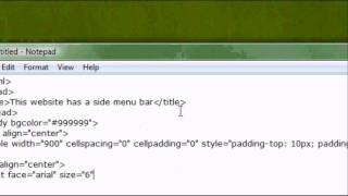 Download HTML Website Design Tutorial - How To Make a Side Menu Bar Video