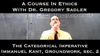 Download The Categorical Imperative (Immanuel Kant, Groundwork, sec. 2) - A Course In Ethics Video