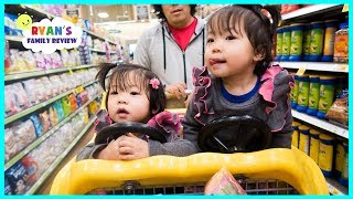 Download Emma and Kate Pick our Grocery Shopping!!! Healthy or not with Ryan Kid Size Shopping Cart!!! Video