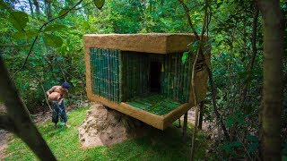Download Build Mini Jungle Bamboo Villa on Termite Mound By Ancient Skills Video