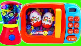 Download Blender Microwave Just Like Home Surprise Egg Smurfs Learn Colors M&M Chocolate Baby Dolls Bath Time Video