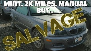 Download MINT E46 BMW M3 Manual with ONLY 2,000 Miles at the Salvage Auction? *Mysterious* Video