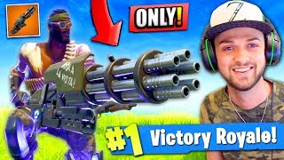 Download WINNING using *ONLY* the MINIGUN in Fortnite: Battle Royale! (CHALLENGE) Video