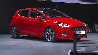 Download 2017 Ford Fiesta unveiled at an event in Cologne, Germany Video