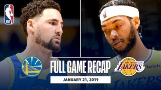 Download Full Game Recap: Warriors vs Lakers | Klay Hits 10 Straight 3-Pointers Video