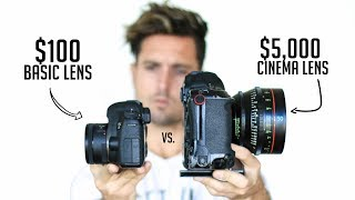 Download $100 Camera Lens VS. $5,000 Cinema Lens | Explained Video