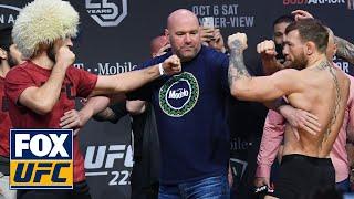 Download Conor McGregor and Khabib Nurmagomedov face off | WEIGH-INS | UFC 229 Video
