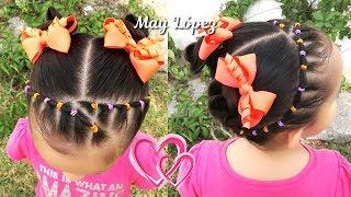 Download Peinado para NIÑAS FACIL con ligas y chonguitos | Peinados faciles y rapidos | May Lopez Video