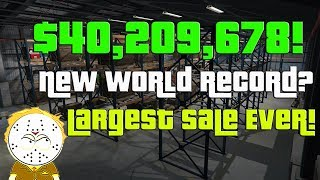 Download GTA Online Largest Sale Ever, $40,209,678 One Day! New World Record? Selling Everything CEO, MC Video