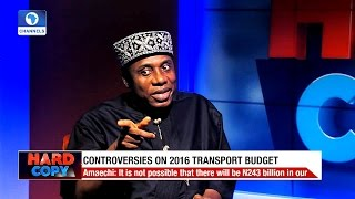 Download Hard Copy: Amaechi Clears Air Over 2016 Transport Budget Controversies Video