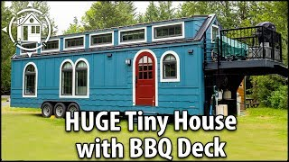 Download Big Fancy TINY HOUSE with BBQ Deck. Better Than An RV! Video