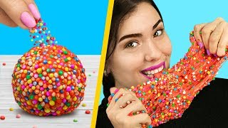 Download Adding Too Many Ingredients Into Slime! 8 Edible Candy Slime Pranks! Video