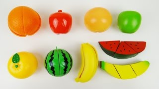 Download Toy Cutting Fruit Velcro Cooking Playset Fruit Salad Wooden and Plastic Video