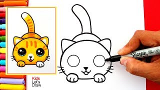 Download Aprende a dibujar un GATO KAWAII fácil | How to Draw a Cute Kitten Easy Video