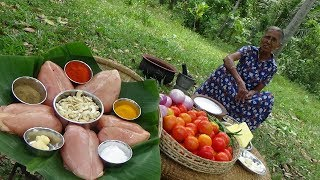 Download Chicken Breasts with Tomato and Cashew Nuts for Dinner by Grandma | Village Life Video